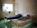 Bari, Italy - March 27, 2013 - Detention center for immigrants. Moroccan immigrant sleep in his room.Ph.Giulio Piscitelli
