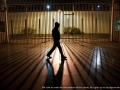 Bari, Italy - December 19, 2012 - Migrant walking in an open area of the detention center for migrants.Ph.Giulio Piscitelli